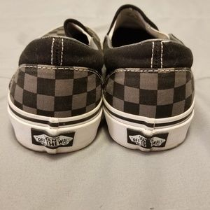 Vans Shoes - Vans Black and Grey Classic Checkerboard